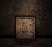 Grunge interior with safe Royalty Free Stock Photos