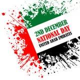 Grunge style image for UAE National Day Royalty Free Stock Photos