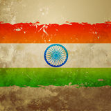 Grunge style indian flag Royalty Free Stock Photography