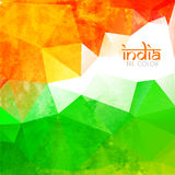 Grunge style indian flag Stock Images