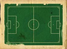Grunge style llustration of a football  pitch Stock Images