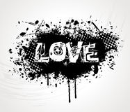 Grunge style love background Stock Photo