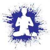 Grunge style meditation. illustration vector Stock Photography