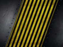 Grunge style background with yellow and black warning stripes Royalty Free Stock Image