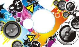 Grunge Style Music Banner royalty free illustration