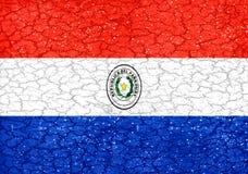 Grunge Style Paraguay National Flag Royalty Free Stock Photo