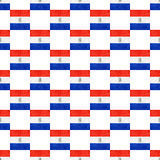Grunge Style Paraguay National Flag Pattern Stock Images