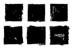 Grunge style set of square shapes . Vector.  Royalty Free Stock Images