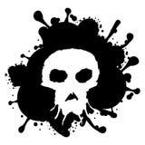 Grunge style skull Stock Photography