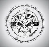 Grunge style Skull Stamp. Rubber Stamp of a Grunge style Halloween Skull Royalty Free Stock Photos