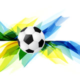Grunge style soccer background. Vector grunge style football design background Royalty Free Stock Photos