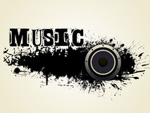 Grunge style speaker background with music text Stock Photos