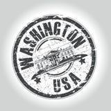 Grunge style stamp washington Royalty Free Stock Photos