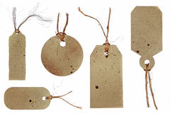 Grunge Style Tags for Gifts, Price, or Scrapbookin Stock Photo