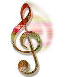 Grunge Style Textured Treble Clef Royalty Free Stock Image