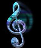 Grunge Style Treble Clef. Grunge Style Textured Treble Clef with Working Path Stock Photos