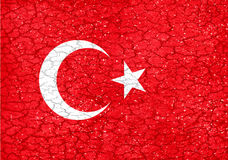 Grunge Style Turkey National Flag Royalty Free Stock Photos