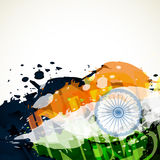 Grunge style vector flag. Abstract grunge style vector indian flag design Stock Image