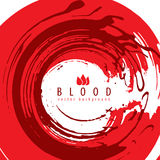 Grunge style vector red blood abstraction Royalty Free Stock Image