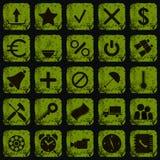 Grunge style web icons Stock Photos