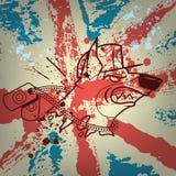 Grunge styled illustration Stock Image