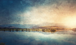 Grunge styled lanscape Stock Photography