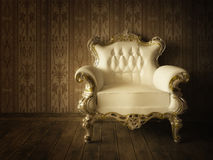 Grunge Styled Luxurious armchair Royalty Free Stock Photography