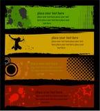 Grunge stylish banners Royalty Free Stock Photos