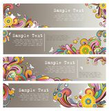 Grunge stylish colored banners