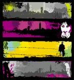 Grunge stylish urban banners Royalty Free Stock Photo