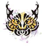 Grunge stylized lynx head Royalty Free Stock Photo