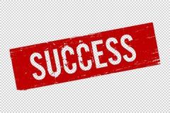 Grunge Successsquare foki czerwony gumowy znaczek ilustracji