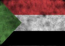 Grunge Sudan flaga Zdjęcia Stock