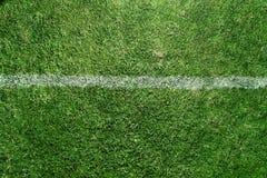 Grunge sujo das marcações do campo de futebol Foto de Stock Royalty Free