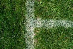 Grunge sujo das marcações do campo de futebol Fotos de Stock Royalty Free