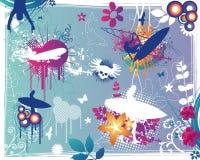 Grunge Summer Design Elements. Vector Illustration Stock Images