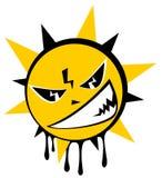 Grunge sun Stock Image