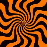 Grunge sunbeam tło w Halloweenowych tradycyjnych kolorach Pomarańczowa i czarna słońce promieni abstrakta tapeta Obrazy Royalty Free