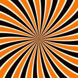 Grunge sunbeam tło w Halloweenowych tradycyjnych kolorach Pomarańczowa i czarna słońce promieni abstrakta tapeta Obrazy Stock
