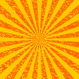 Grunge Sunburst [1]. Grunge (yellow and orange) sunburst background stock illustration
