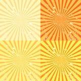 Grunge sunburst background Stock Photos