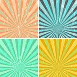 Grunge sunburst background royalty free illustration