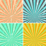Grunge sunburst background. Vector grunge sunburst background in retro colours Stock Photography