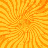 Grunge sunburst swirl Stock Photos