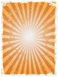 Grunge sunray background Stock Images