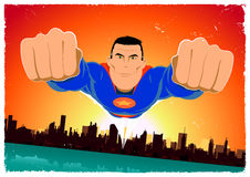 Grunge Super Hero Poster Background Royalty Free Stock Image