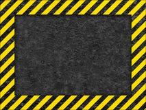 Grunge Surface as Warning Frame. Grunge Black and Yellow Surface as Warning or Danger Frame, Old Metal Textured Stock Image