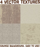 Grunge surface backgrounds vector set Stock Photography