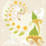 A grunge and swirl floral background Royalty Free Stock Image