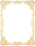 Grunge swirl frame Royalty Free Stock Photo